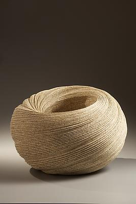 Double-walled, large twisting vessel with carved folds, 2010 Stoneware with sand glaze 12 1/4 x 18 1/8 x 18 1/8 in. Inv# 6589 SOLD Image