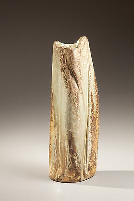 Tall narrow hand-built &lt;i&gt;Iga&lt;/i&gt;-glazed vase, 2010