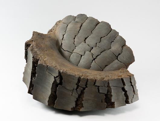 Untitled MV-1015, 2010 Stoneware with iron-filings 16 1/7 x 27 1/4 x 19 3/4 in. SOLD Image
