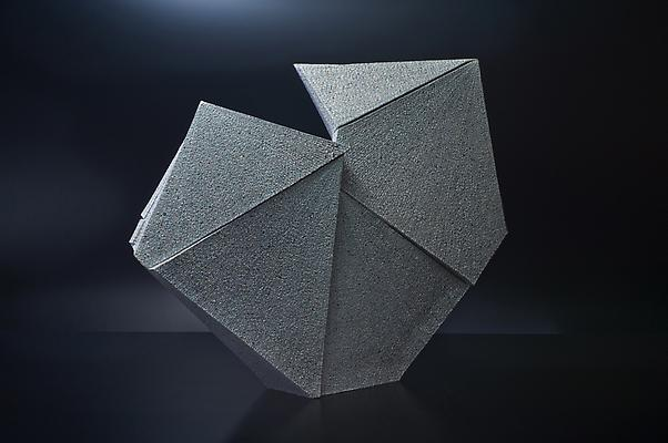Large diamond-shaped sculpture with indented upper side, 2011 Stoneware with colored clay chamotte 23 x 28 3/8 x 6 1/8 in. Inv# 7538 SOLD