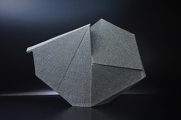 Large diamond-shaped sculpture, 2011 Stoneware with colored clay chamotte 23 1/4 x 32 1/2 x 6 5/8 in. Inv# 7539 SOLD