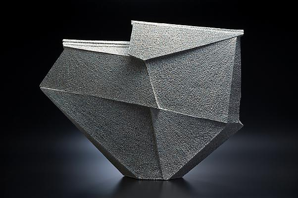 Large diamond-shaped sculpture, 2011 Stoneware with colored clay chamotte 20 5/8 x 27 1/8 x 5 1/2 in. Inv# 7540 SOLD