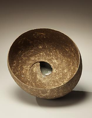 Round hemispheric sculpture with tear-drop opening to reveal sunken-glazed base, 2012 Glazed stoneware 8 1/2 x 12 1/4 x 11 in. Inv# 7686 $ 3,850 Image