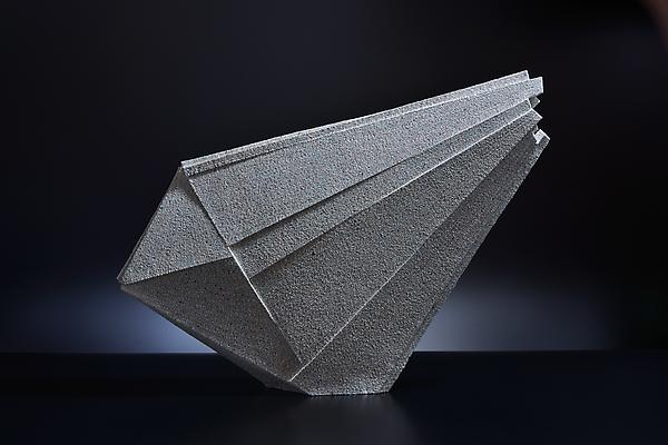 Large diagonal triangular-shaped sculpture, 2012 Stoneware with colored clay chamotte 24 3/8 x 32 1/4 x 5 in. Inv# 7779 SOLD