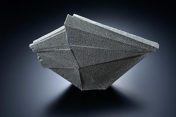 Horizontal sculpture with extended triangular corner, 2012 Stoneware with colored clay chamotte 15 3/8 x 21 5/8 x 4 3/8 in. Inv# 7782 SOLD