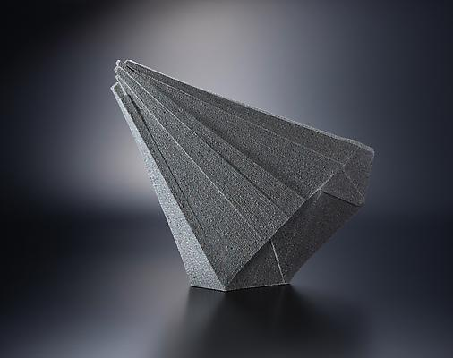 Diagonal triangular-shaped sculpture, 2012 Stoneware with colored clay chamotte 19 5/8 x 24 5/8 x 4 3/8 in. Inv# 7783 SOLD