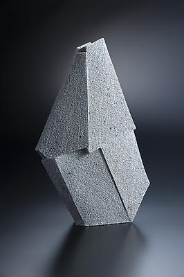 Vertical multi-faceted sculpture, 2012 Stoneware with colored clay chamotte 20 1/4 x 12 5/8 x 4 1/8 in. Inv# 7784 SOLD