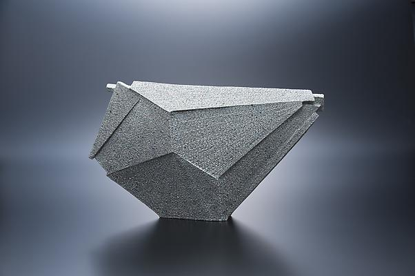 Horizontal pentagonal-shaped sculpture, 2012 Stoneware with colored clay chamotte 12 5/8 x 21 5/8 x 4 3/8 in. Inv# 7785 SOLD