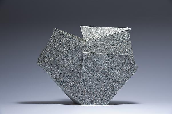 Diamond-shaped sculpture, 2012 Stoneware with colored clay chamotte 14 ¾ x 18 7/8 x 4 3/8 in.  Inv# 7787 SOLD