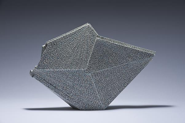 Horizontal diamond-shaped sculpture, 2012 Stoneware with colored clay chamotte 13 3/8 x 19 5/8 x 3 7/8 in.  Inv# 7788 SOLD