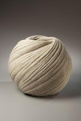 Sakiyama Takayuki (b. 1958) Globular vessel with diagonally incised cascading folds, 2009 Stoneware with sand glaze 15 3/4 x 18 7/8 x 18 7/8 inches Inv# 6158