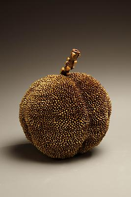 Sugiura Yasuyoshi (b. 1949) Sculpture of Japanese Bayberry (Yama-momo), 2009 5 7/8 x 6 1/8 x 7 3/8 inches Inv# 6027