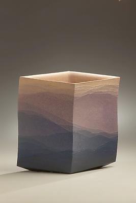 <i>Haruka</i> (Forever) 2000 Stoneware and colored clay overlays 14 x 15 x 5 1/4 inches