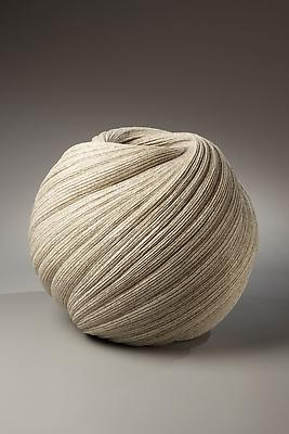 Large, twisting vessel with diagonally-incised cascading folds, 2009