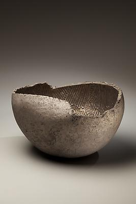Ogawa Machiko (b. 1946) Vessel with black and silver glazes, 2009 Stoneware with black and silver glazes 9 7/8 x 15 1/8 x 16 1/2 inches Inv# 6180 $ 8,450