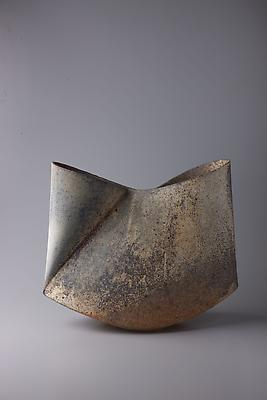 Kodô (Pulse), 2011 Multi-fired unglazed stoneware 14 1/2 x 17 3/8 x 6 7/8 inches Inv# 7068 SOLD