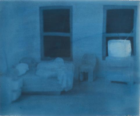 <i>Soap Bedroom with TV, 1997</i> gum print on Somerset white paper 48,3 x 58,4 cm edition of 2 1.750 € including tax