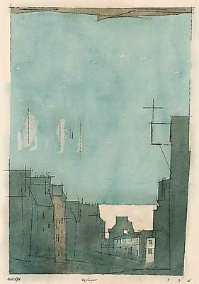 Lyonel Feininger, <i>Quimper</i>, 1931 watercolor and ink on paper