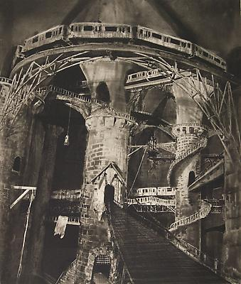 <i>Downtown Transfer (State 2)</i>, 2010 photogravure on Somerset soft white 86.4 x 73.7 cm (34 x 29 in.)  edition of 7 4,800. € including tax