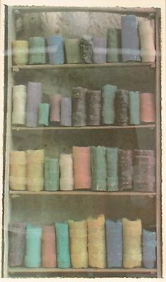 <i>Soap Bookshelves, 2004</i> gum print on Somerset white paper triptych, each 58,4 x 35,6 cm 5.300 € including tax