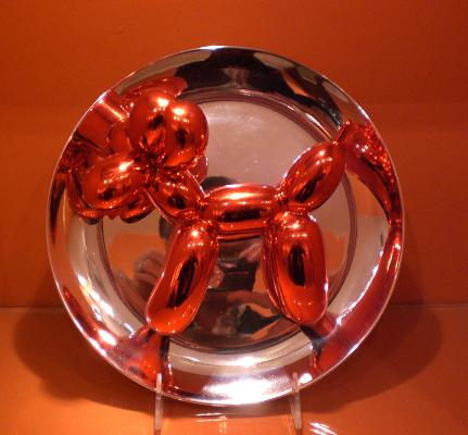 Balloon Dog Plate 2002 Porcelain plate 10 inches (25.4 cm)