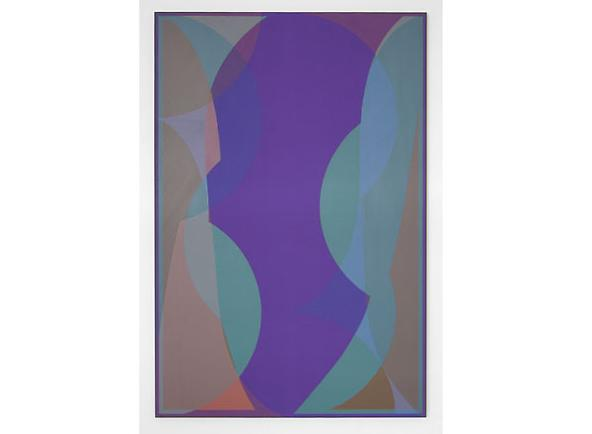 Halsey Hathaway Blind Faith 1 2011 Acrylic on dyed canvas 75 x 50 inches