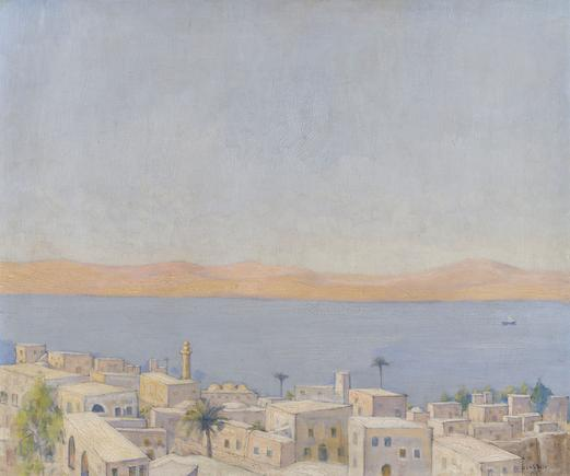 Hermann Struck Tiberias Oil on canvas 24.61 by 20.08 inches (62.5 by 51 cm) Framed: 34 x 29 1/2 inches (Inv# HS3111)