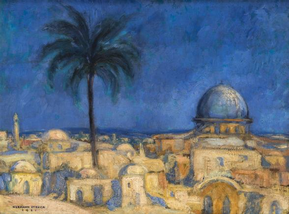 Hermann Struck  Jerusalem, 1921 Oil on panel 24.49 by 17.99 inches (62.2 by 45.7 cm) Framed: 30 1/2 x 24 inches (Inv# HS3427)