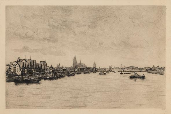 Hermann Struck  Cologne Etching 25.98 by 16.73 inches (66 by 42.5 cm) Framed: 33 3/4 x 24 3/4 inches (Inv# HS3079)