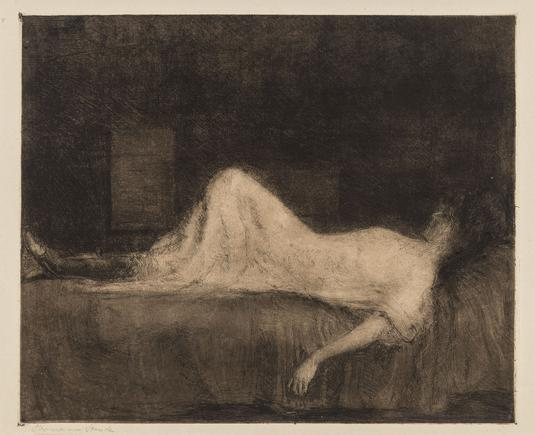 Hermann Struck  Vision in the Twilight, 1904 Etching 11.42 by 9.45 inches (29 by 24 cm) Framed: 19 x 16 1/2 inches (Inv# HS2904.1)