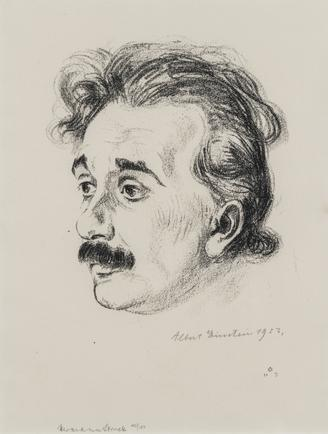 Hermann Struck  Albert Einstein, 1923 Lithograph 7.48 by 9.65 inches (19 by 24.5 cm) Framed: 13 3/4 x 16 inches Edition 123 of 150 (Inv# HS1050.1)