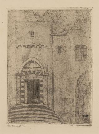 Hermann Struck  Hebron, Patriach's Tomb I, c. 1905 Etching 5.28 by 7.09 inches (13.4 by 18 cm)