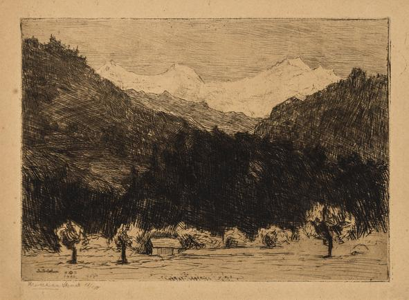 Hermann Struck  Interlaken, 1906 Etching 8.11 by 6.22 inches (20.6 by 15.8 cm) Framed: 17 3/4 x 13 3/4 inches Edition 17 of 150 (Inv# HS2474)