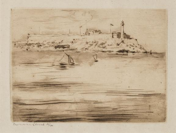 Hermann Struck  Havana Castello Morro, 1913 Etching 7.48 by 5.43 inches (19 by 13.8 cm) Framed: 17 3/4 x 13 3/4 inches Edition 32 of 100 (Inv# HS1813)