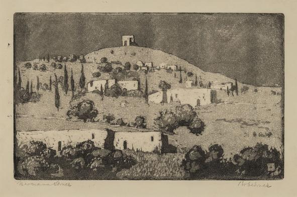 Hermann Struck  Nazareth, 1905 Etching 8.86 by 5.51 inches (22.5 by 14 cm) Framed: 17 3/4 x 13 3/4 inches (Inv# HS2453)
