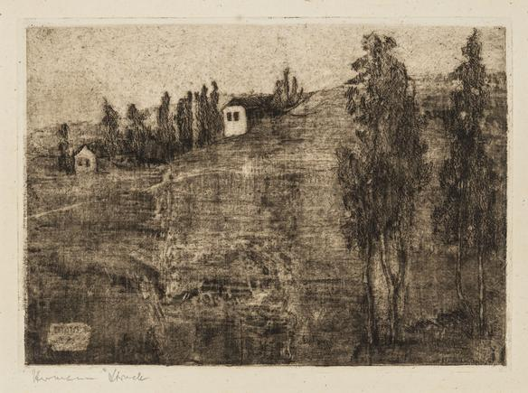 Hermann Struck  Rehovot, A Jewish Colony, 1904 Etching 8.43 by 6.02 inches (21.4 by 15.3 cm) Framed: 17 3/4 x 13 3/4 inches