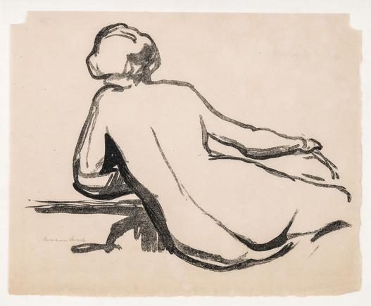 Hermann Struck Nude Lithograph 10.87 by 8.78 inches (27.6 by 22.3 cm) Framed: 13 1/4 x 11 inches (Inv# HS903)