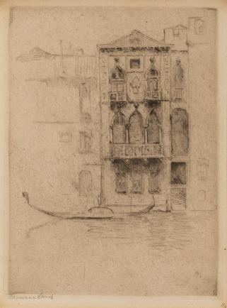 Hermann Struck  Venice Etching 5.43 by 7.48 inches (13.8 by 19 cm) Framed: 17 1/2 x 13 3/4 inches (Inv# HS3104)