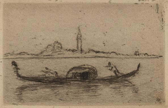 Hermann Struck Kleine Insel II, 1910 Etching 2.68 by 1.65 inches (6.8 by 4.2 cm) Framed: 21 x 19 inches Edition of 30 (Inv# HS2347.1)