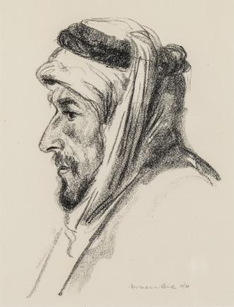 Hermann Struck  Arab, c. 1923-1925 Lithograph 6.69 by 8.66 inches (17 by 22 cm) Framed: 11 x 12 3/4 inches Edition 10 of 30 (Inv# HS1266.2)