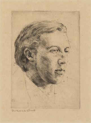 Hermann Struck  Oscar Wilde, 1907 Etching 4.06 by 5.79 inches (10.3 by 14.7 cm) Framed: 10 3/4 x 12 3/4 inches Edition of 100
