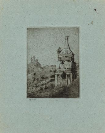 Hermann Struck  Grave Absaloms, Jerusalem Etching 3.46 by 4.69 inches (8.8 by 11.9 cm) Framed: 10 1/4 x 12 1/2 inches (Inv# HS2921)