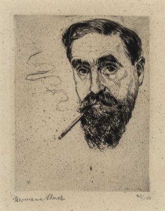 Hermann Struck  Self Portrait, 1928 Etching 2.95 by 3.82 inches (7.5 by 9.7 cm) Framed: 11 1/2 x 12 1/2 inches Edition 42 of 100