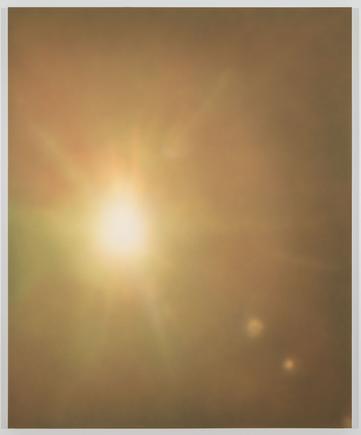 James Case-Leal Second Sun 2014 Poplar wood, Belgain linen, PVA, pigment: carbon, money ash, hanza 10G, Napthol, quinacridone magenta, dioxazine violet, zinc 50 x 60 inches