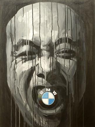 BMW 2006 Acrylic on canvas 35.43 x 23.62 inches (90 x 60 cm)