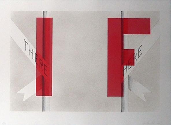 Ed Ruscha IF, 2007 Lithograph 23.2 x 31.8 inches (58.9 x 80.8 cm)