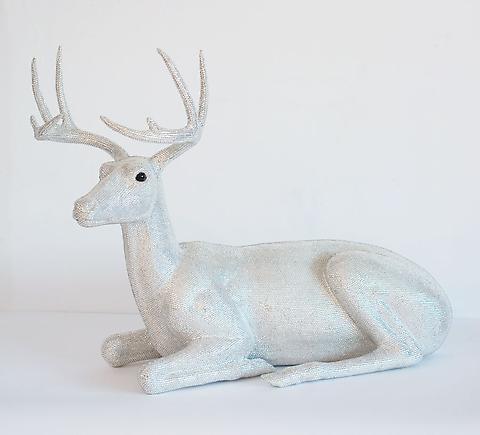 Marc Swanson Untitled (Sitting Buck) 2009 Polyurethane foam, crystals, adhesive 34 x 40 x 50 inches (86.4 x 101.6 x 127 cm)