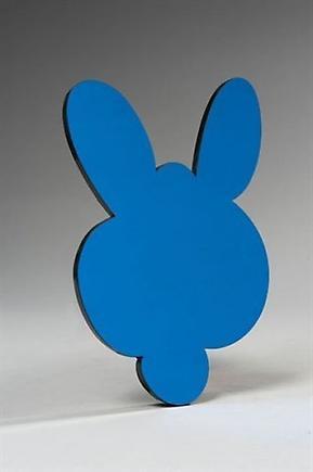 Kangaroo Mirror Box (Blue) 2003 mirror polystyrene and plexiglass 10.3 x 6.9 x .5 inches (26.2 x 17.5 x 1.3 cm)