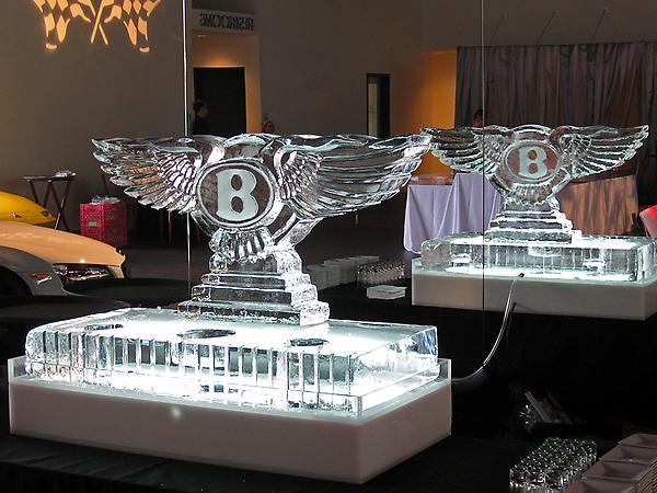 Bentley Logo Sculpture with Caviar Base Manhattan Classic Car Club, NY