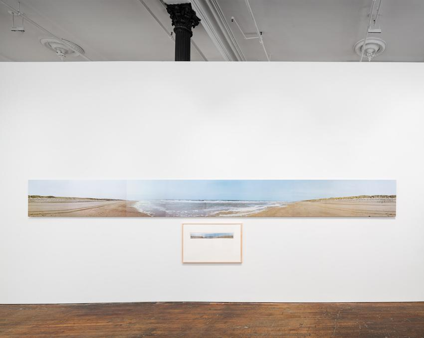Jan Dibbets<br /><br /><i>Panorama Bloemendaal 345°</i><br />1971<br />color photographs mounted onto aluminum in four parts<br />(63.5 x 630 cm)<br />PF3777<br />